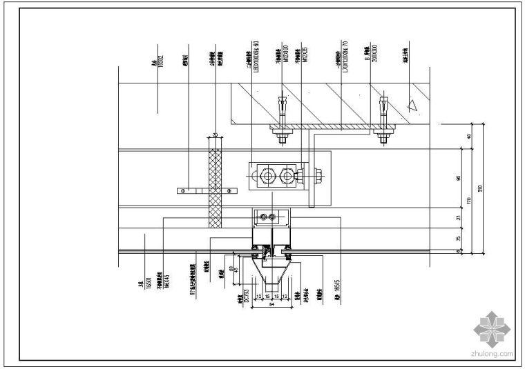某玻璃幕墙及铝合金型材节点构造详图(五)