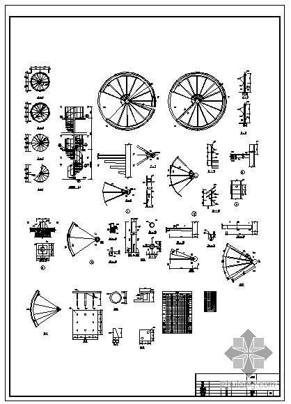 某悬臂螺旋钢梯施工图