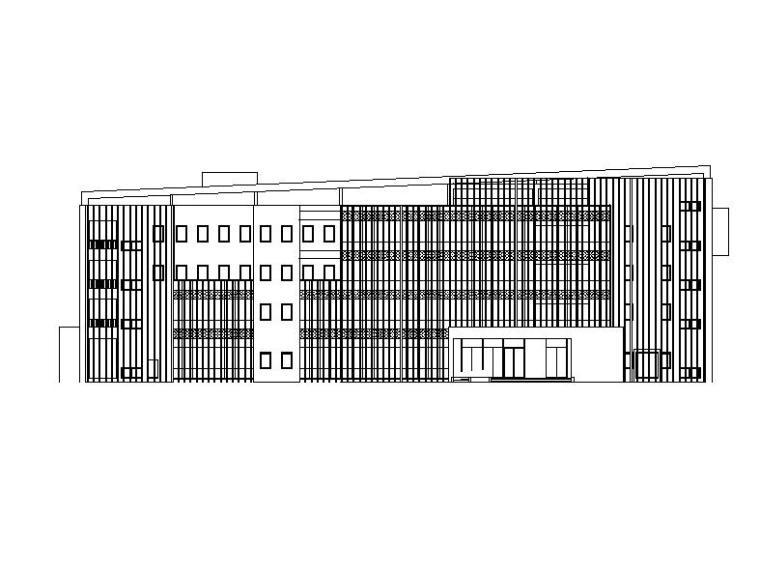 [四川]四层框剪结构倾斜式屋面办公楼建筑施工图