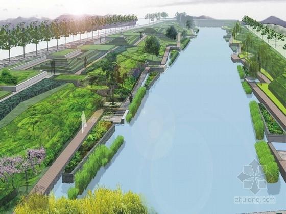 [杭州]居住区两岸河道绿化景观规划设计方案