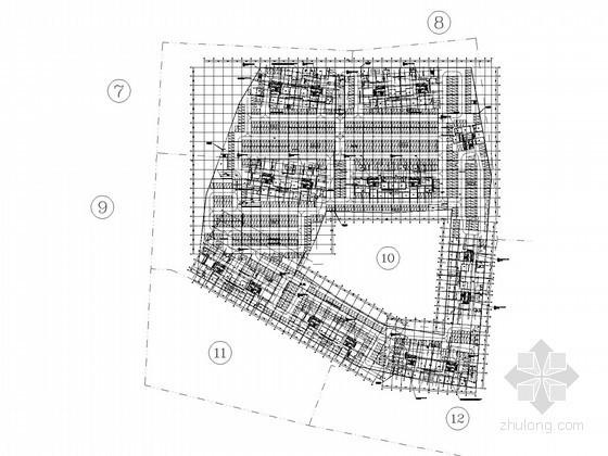 [广州]高层住宅小区及周边项目全套电气施工图纸371张(38万平,99.9米)