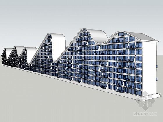 流线建筑SketchUp模型下载