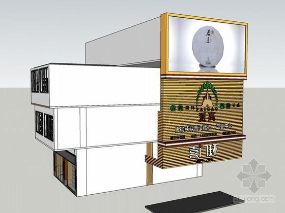 茶叶专卖店SketchUp模型下载