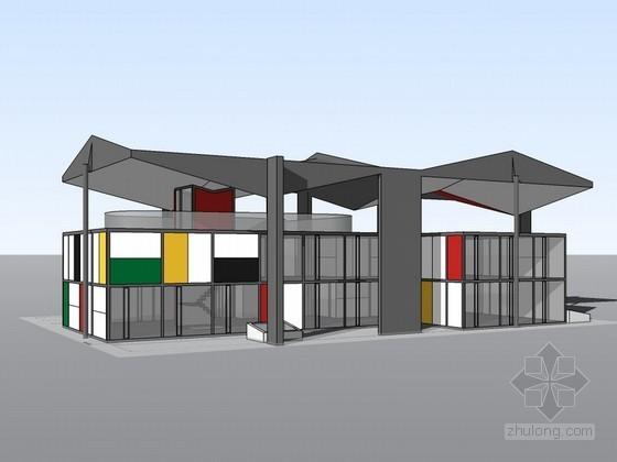 瑞士柯布西耶中心SketchUp建筑模型
