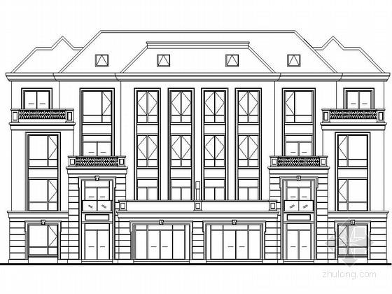 [江苏]某小区四层高档花园洋房建筑施工图