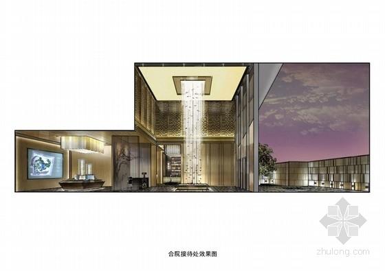 [北京]某高级住宅小区售楼处设计方案图