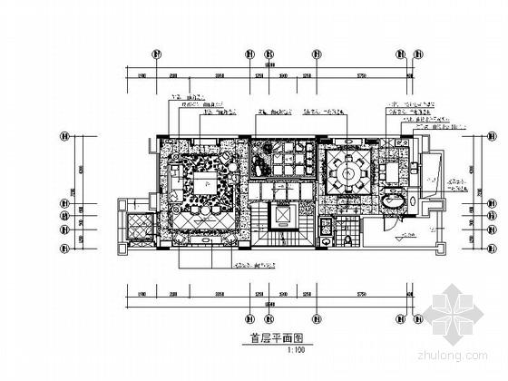 [广东]佛山某高档水景别墅奢华室内装修图