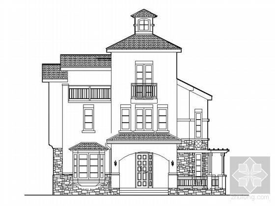 [廊坊]某三层别墅建筑施工图