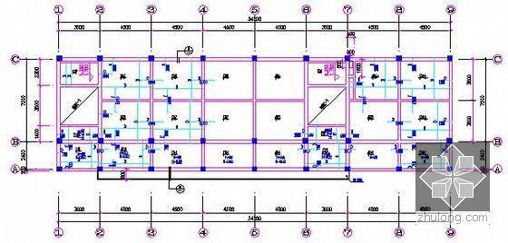 [安徽]教学楼建筑及安装工程量清单计价实例(附图纸及软件文件)-2、3层板配筋图