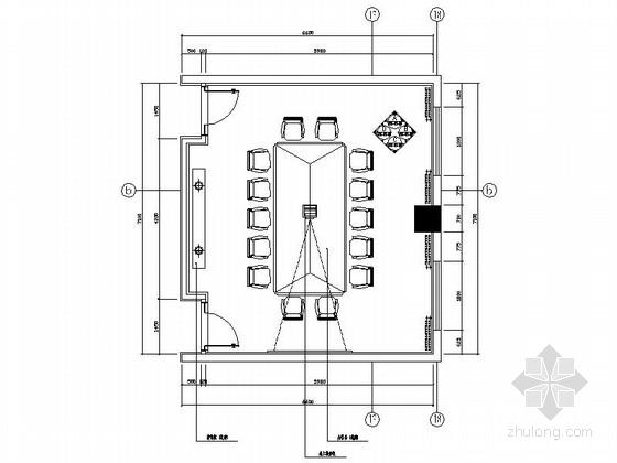 [重庆]四星级现代简约酒店会议室室内装修施工图