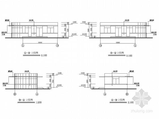 垃圾填埋场门卫结构施工图(含建筑图)