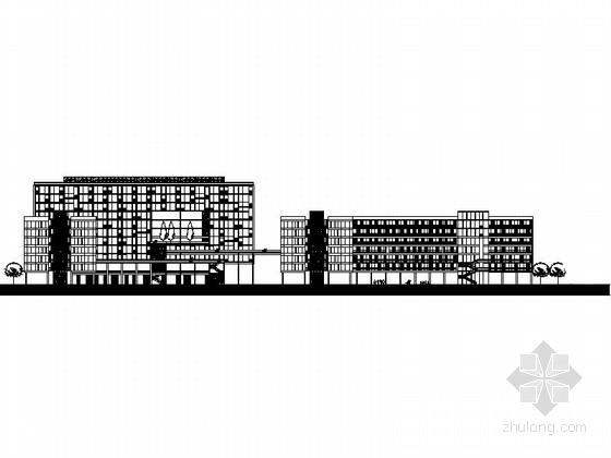 [四川]24米现代风格商业广场建筑设计施工图(含效果图知名设计院)
