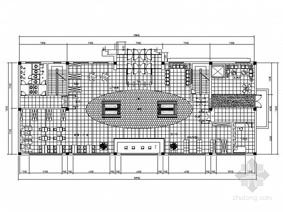 [大连]现代简约大型图书馆室内设计CAD施工图(含效果图)
