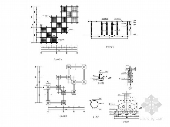 园林花架施工图22例