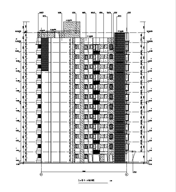 [海南]高层全专业审图后住宅建筑施工图(含全专业及车库)_5