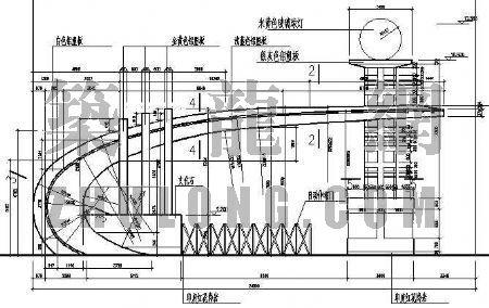 [施工图][合集]24套大门建筑施工图(学校,接待中心,公司大门,欧式)图片