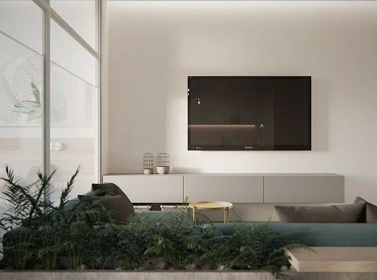 30个新潮的电视柜设计,这样装不俗不土!