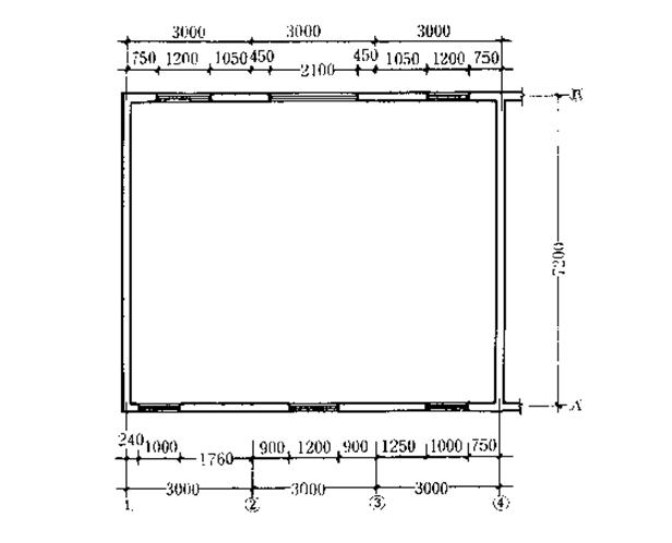 U型教学楼毕业设计计算书资料下载-四层砖混结构教学楼课程设计计算书(word,30页)
