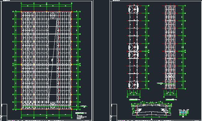 钢混框架结构拼接厂房施工图纸(含建筑结构、给排水)_4