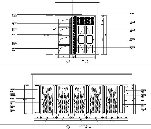[江苏]名都商业街餐饮空间设计施工图(附效果图+材料表)