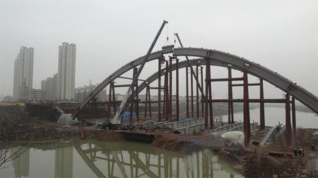 60+180+60m飞燕式提篮钢管砼拱桥钢管混凝土泵送施工方案