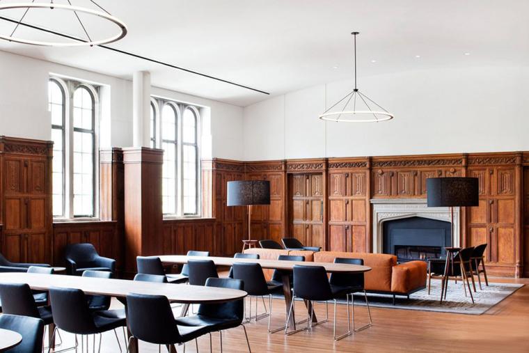 哥特式学术建筑普林斯顿大学校园内部实景图 (5)