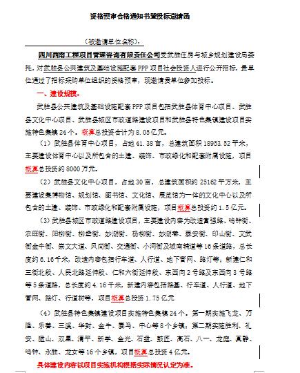 【四川】公共建筑及基础设施配套PPP项目招标文件(共49页)_3