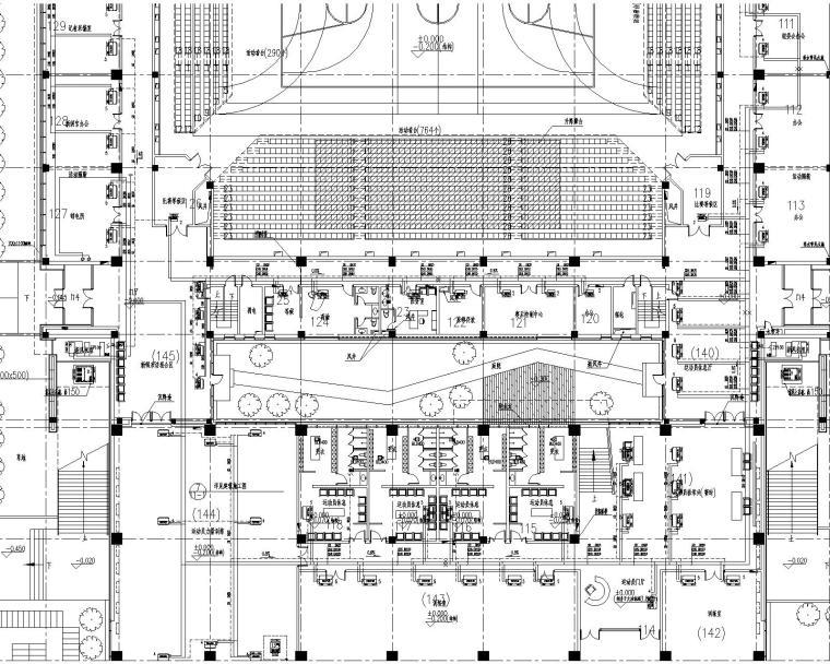 [天津]师范大学体育馆施工图(含中央空调系统、地暖系统、通风系统、防排烟系统)_3