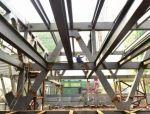 南充市博物馆 巨型钢结构顶部施工安装近半 南充市博物馆 巨型钢