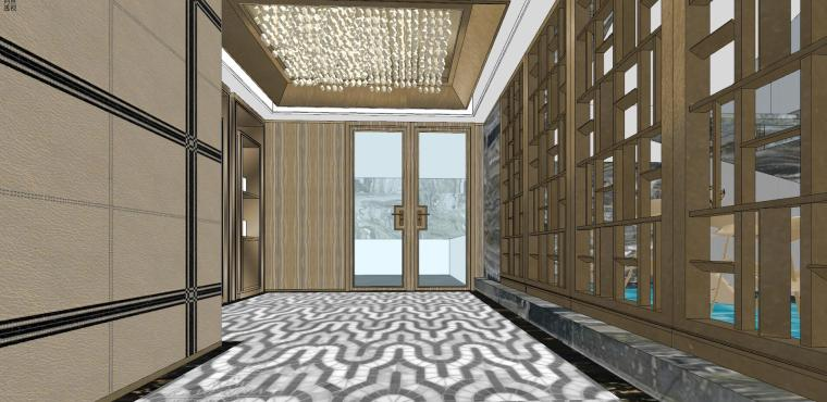 豪华loft室内设计客餐厅模型设计(2018年)-X 22