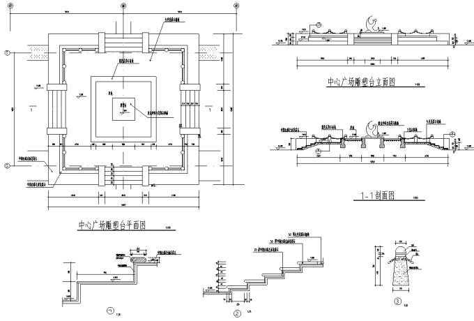 园林景观小品雕塑标志CAD施工图61张_5