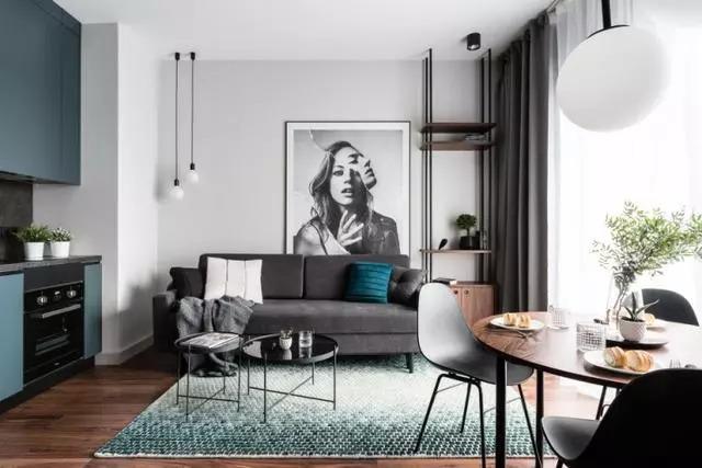 38㎡ 北欧风设计,一室一厅的温馨小家!