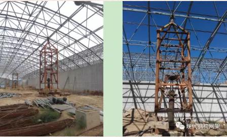 [行业资讯]大跨度煤棚焊接球网架液压顶升施工技术_15