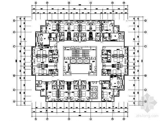四星级酒店平面设计图