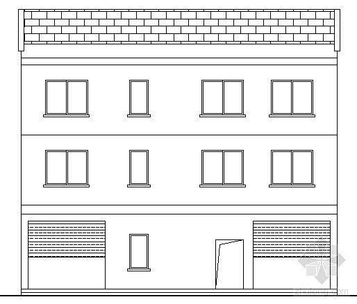 农村某三层住宅楼建筑方案图