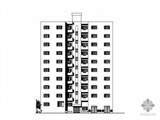 [法语]十层一梯二住宅楼建筑方案图