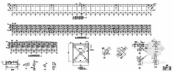 某钢结构厂房柱间支撑节点详图
