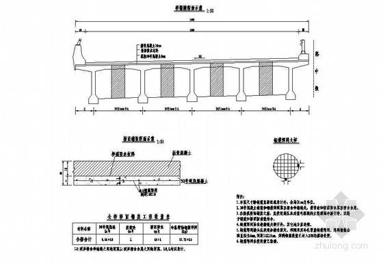 30mT梁上部桥面铺装钢筋布置节点详图设计