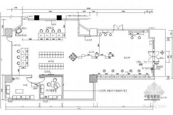 [深圳]大型通讯企业六个营业厅室内施工图