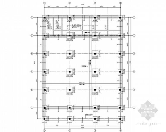 中学钢屋架框架教学楼结构施工图