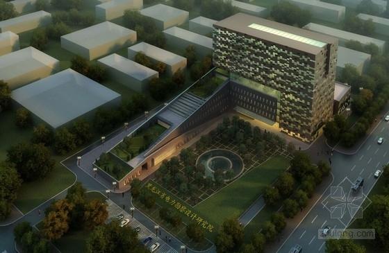 [东北]高层电力勘察设计研究院办公楼建筑设计方案文本(2个方案)