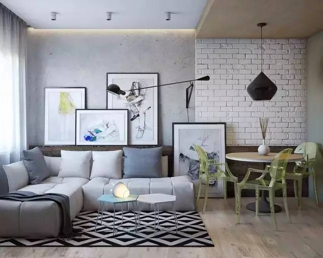 家居中色彩与材质这么搭配会更有意思么?