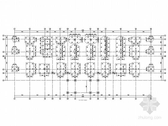 [湖北]12层框架剪力墙结构办公楼结构图(预制管桩基础)