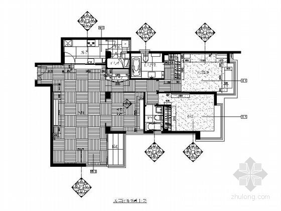 [合肥]雅致现代风格三居室装修图(含实景图)