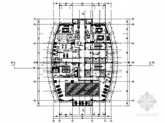 [江苏]高层连锁酒店客房装修CAD施工图(含效果)
