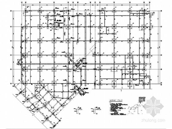 [河南]地上四层框架结构A区商业区结构施工图