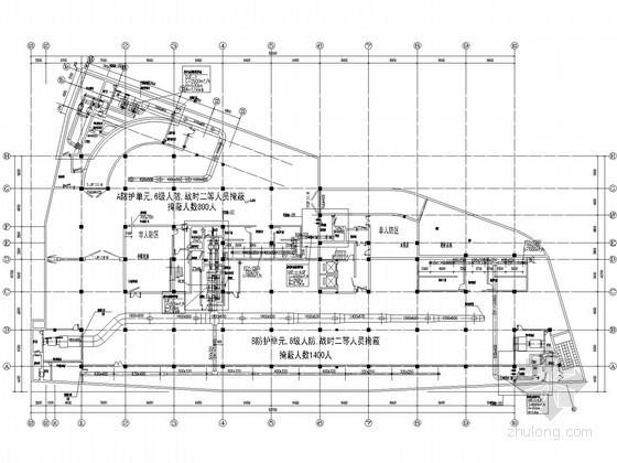 [南京]办公楼地下室人防通风设计施工图纸