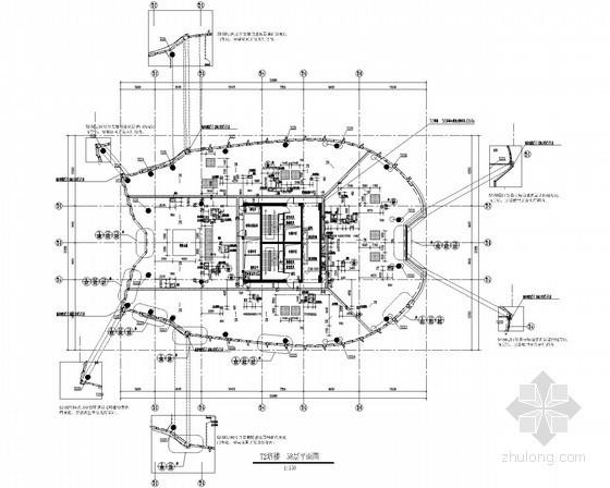 [杭州]大型广场建筑外立面照明设计施工图纸58张