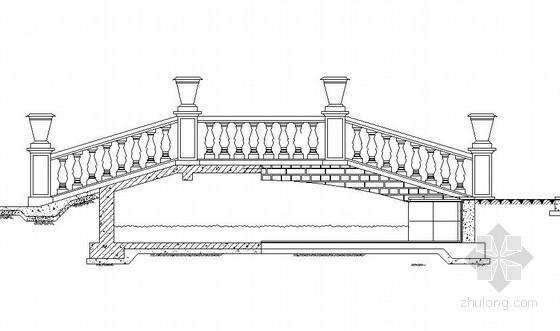 威尼斯式庭院小平桥施工大样