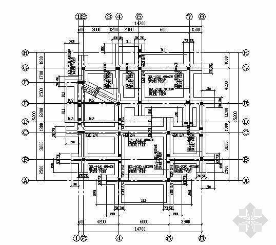 某框架别墅建筑结构套图